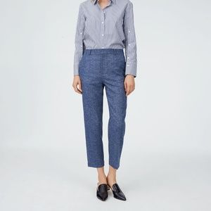Club Monaco Betia Straight Leg Crop Wool Pant